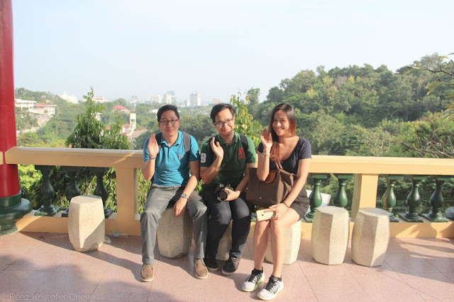 Renz Cheng, Emil Ong and Elaine Franco in Taoist Temple of Cebu