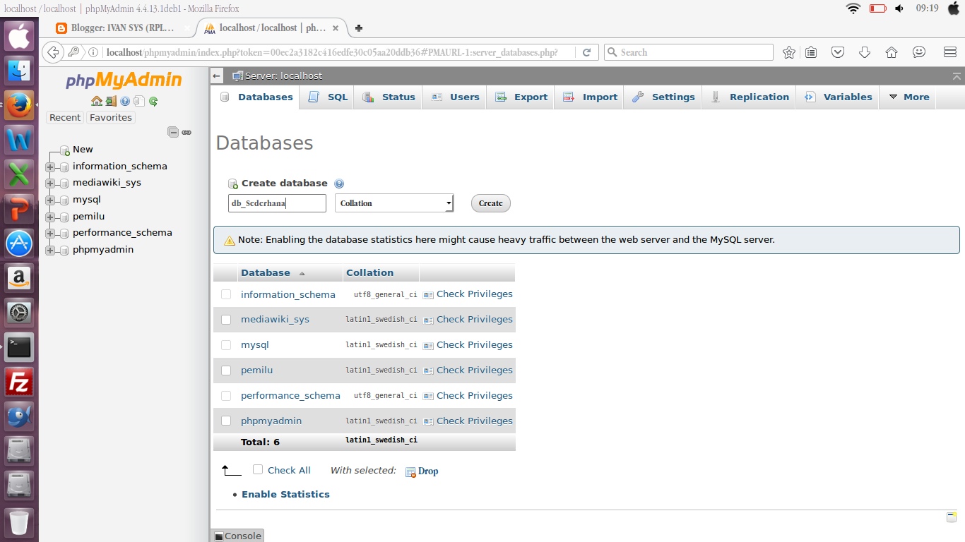 Cara Membuat Database Melalui PHP MYADMIN Untuk Pemula