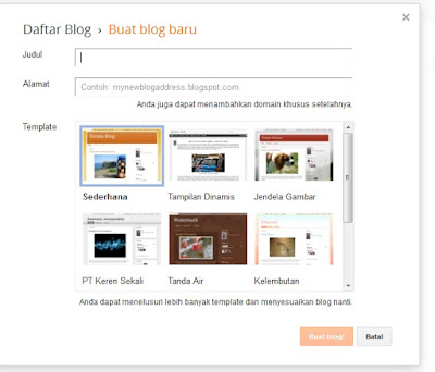 CARA SIMPLE MEMBUAT BLOG GRATIS