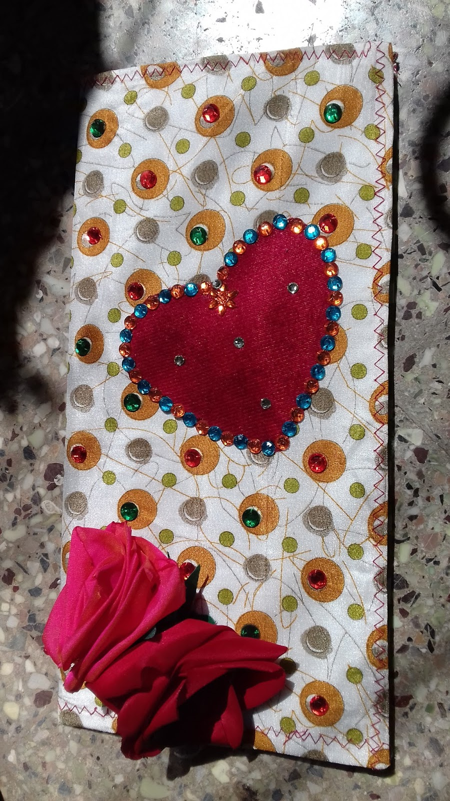 Nutana creations greeting cards a greeting card to express our feelings eco friendly greeting cards is presented here with natural touch of kundan handmade roses and heart shapes kristyandbryce Images