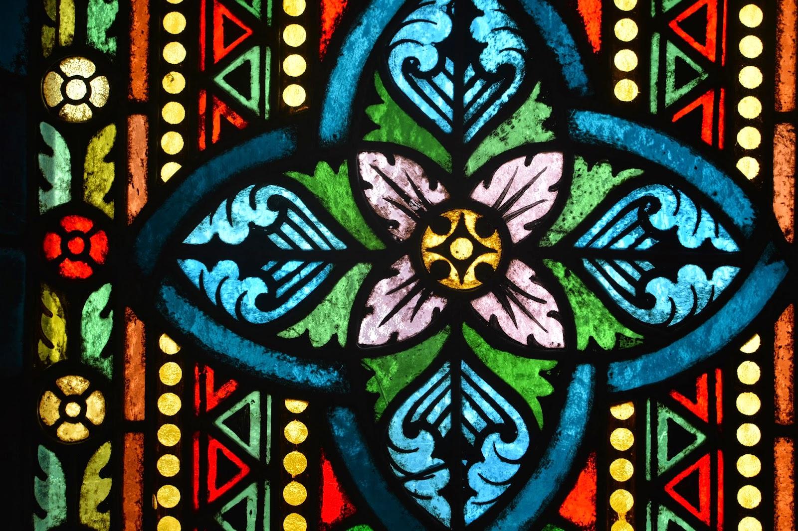 Stained glass Matthius Church Budapest