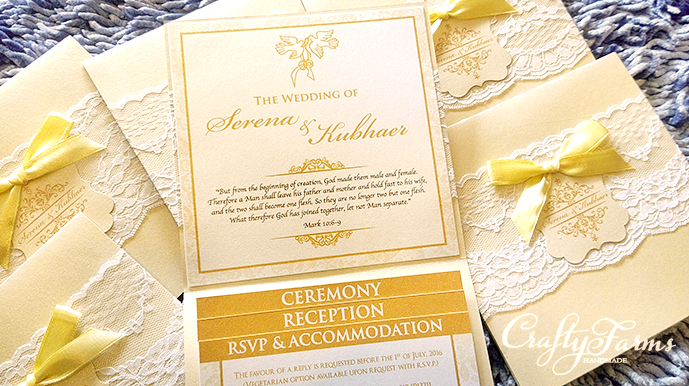 Wedding card malaysia crafty farms handmade cream and gold lace cream and gold lace pocket wedding invitation card with cascading inserts stopboris Images