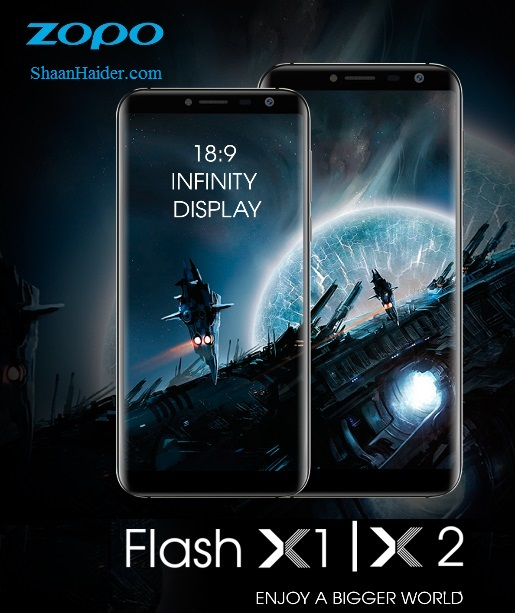 ZOPO Flash X1 and Flash X2, the Cheapest 18:9 Bezel-less Smartphones - Hardware Specs and Features