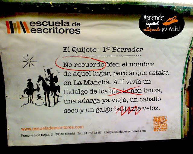 primer borrador del Quijote