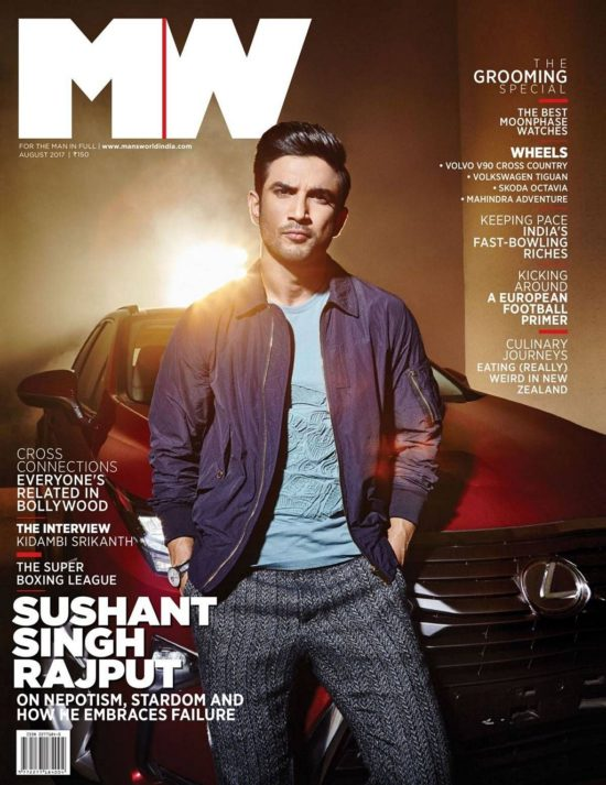 Sushant Singh Rajput On The Cover of Man's World Magazine India August 2017