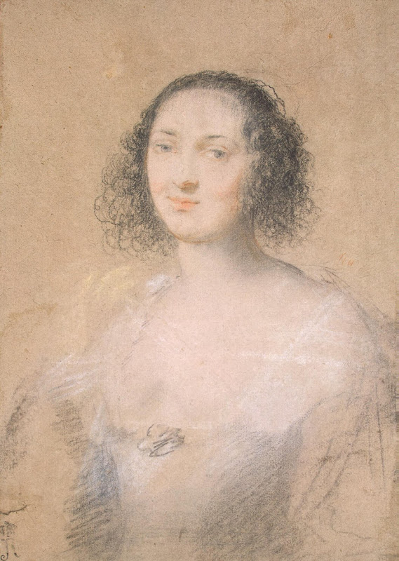 Portrait of a Young Woman by Claude Mellan - Portrait Drawings from Hermitage Museum