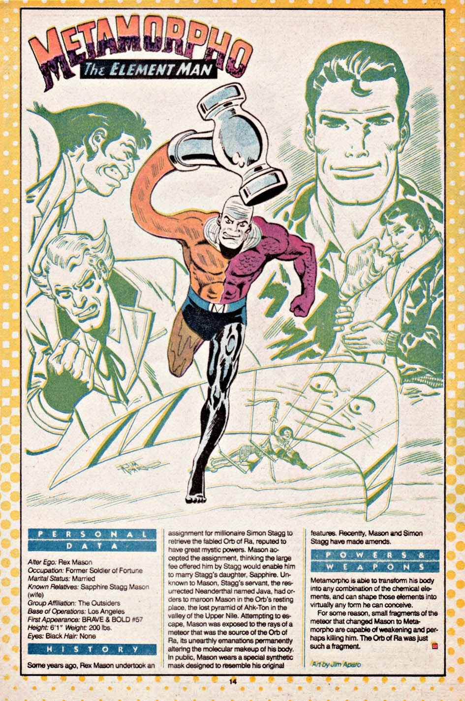 The Dork Review Outsider S Who S Who Pages By Jim Aparo