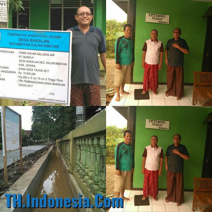 Patut Di Apresiasikan Pembangunan Di Desa Bakalan Kecamatan Kalinyamatan Jepara Sangat Transparan Dan Unggul Dalam Kualitas