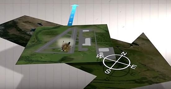 Teoria da Terra plana - Pouso de aviões alterados