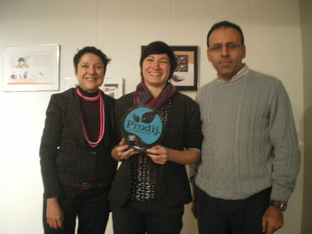photo d'équipe avec C. Batisse et A. Bouras