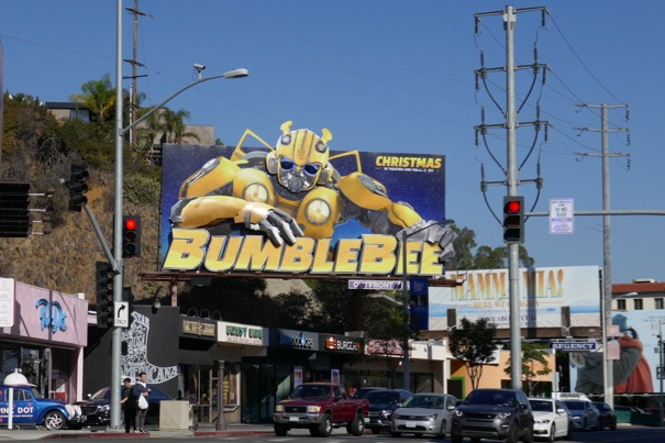 Bumblebee billboard Sunset Strip