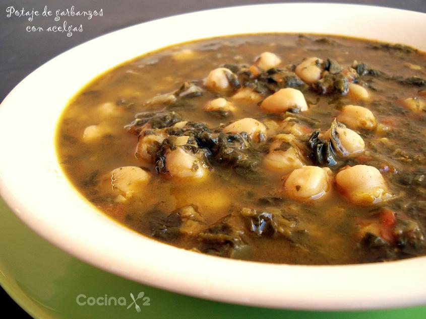 Cocinax2 las recetas de laurita potaje de garbanzos con - Garbanzos olla express ...