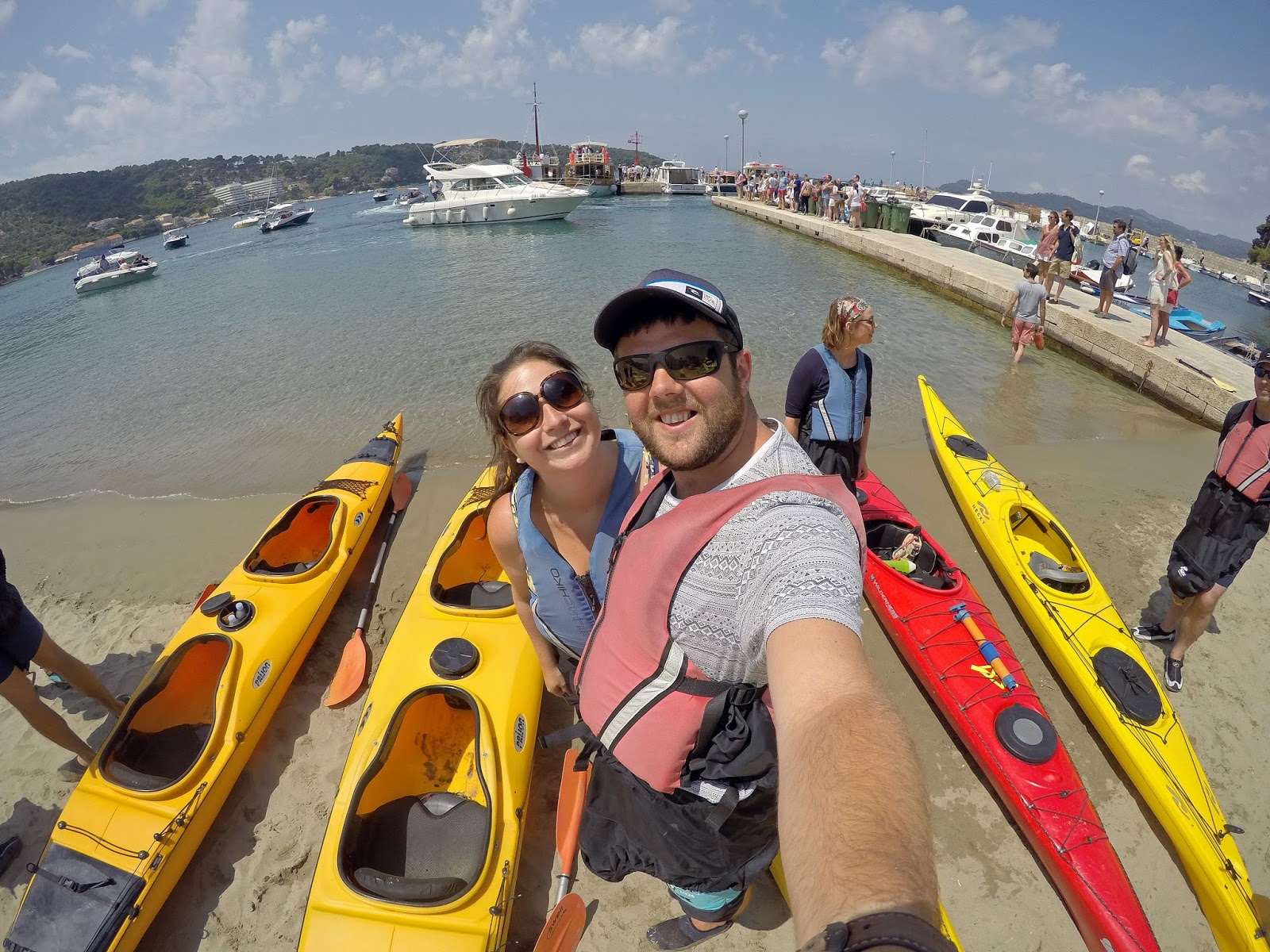 Ready to begin kayaking on Lopud Island