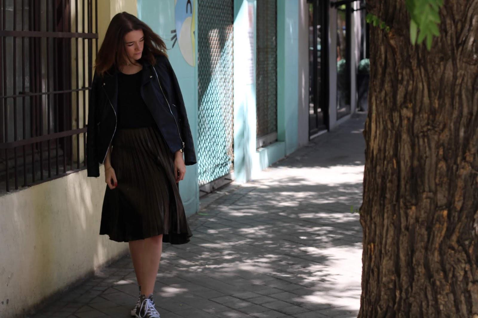 veste cuir noire