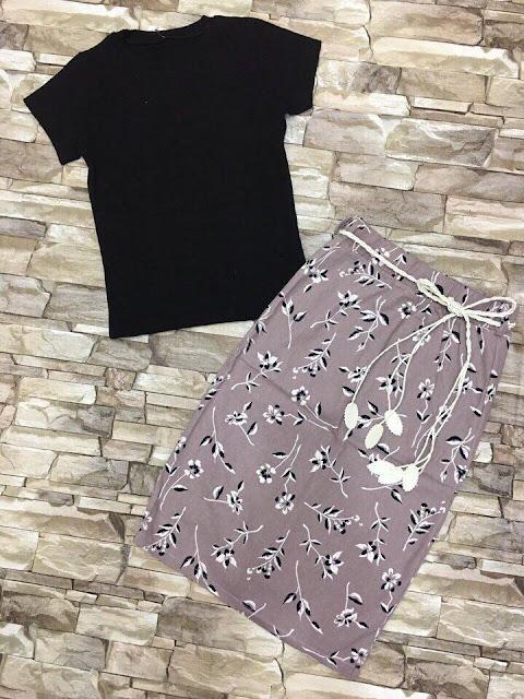 Set áo thun phối chân váy ôm giá sỉ ở Bình Dương