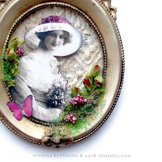 Framed Floral Collage - Nichola Battilana pixiehill.com