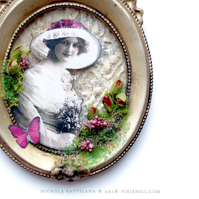 Framed Floral Collage - Nichola Battilana pixiehill.com