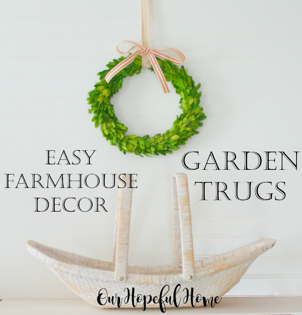 farmhouse decor decorating garden trug