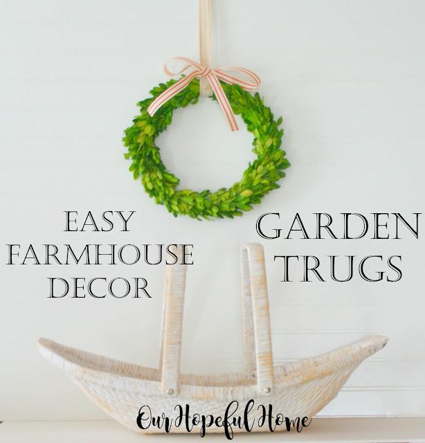farmhouse decor decorating garden trug