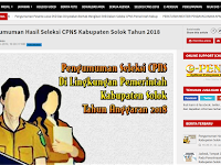 Pengumuman Hasil Akhir CPNS 2018 Kabupaten Solok