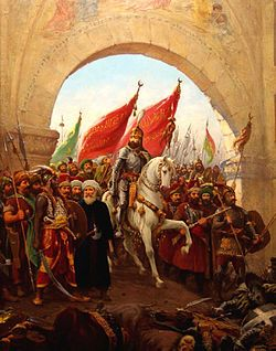 Sultan Mehmed II's entry into Constantinople, painting by Fausto Zonaro (1854–1929).