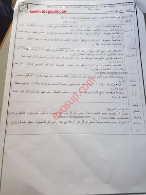 مباراة التعاقد 2018 : عناصر الاجابة لاختبار مادة التخصص و ديداكتيك مادة التخصص اللغة العربية للتعليم الابتدائي
