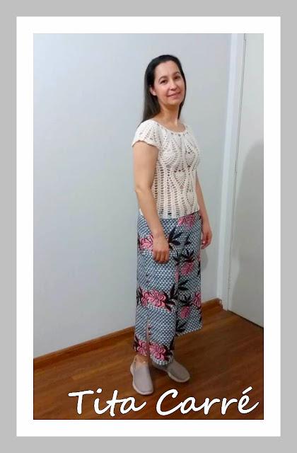Blusa abacaxi em crochet
