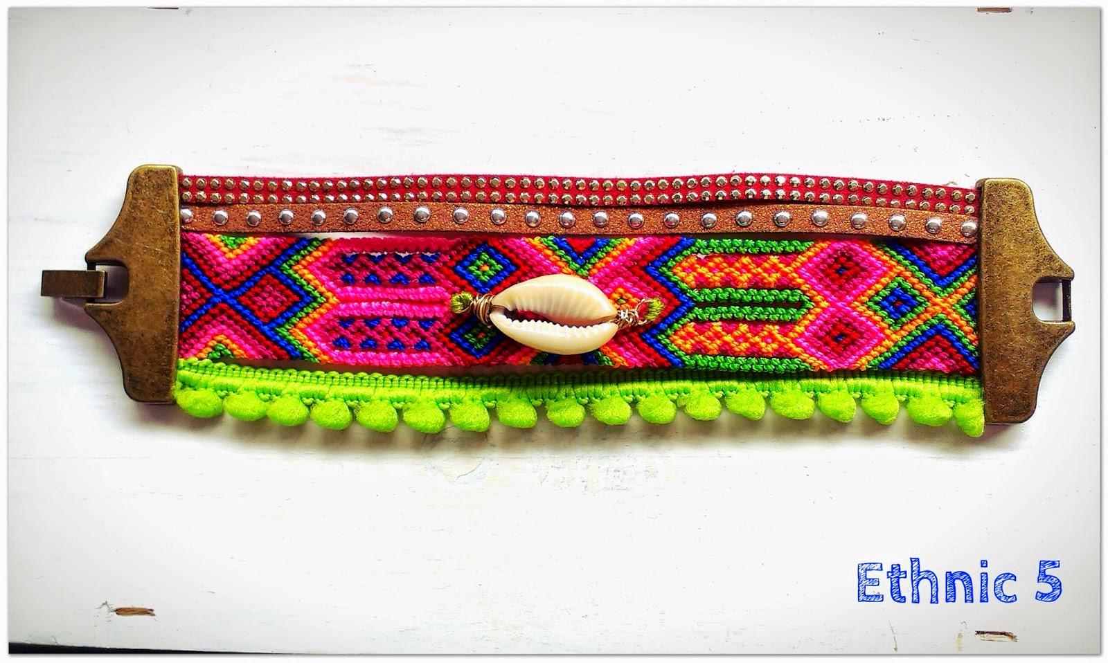 pulseras concha etnicas tribal azteca