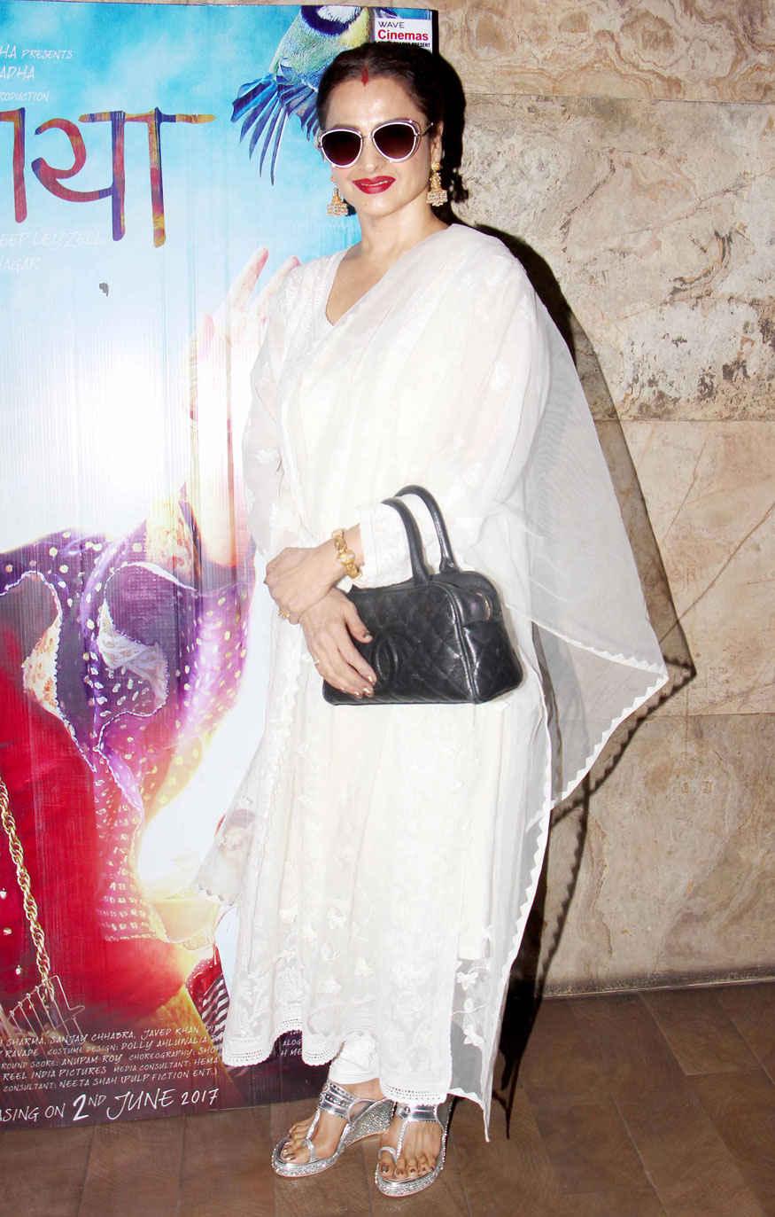 Tabu and Rekha Attends Special Screening of Movie Dear Maya