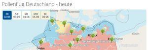 Online pollenflugkarte und vorhersage f r deutschland for Klassisches haushaltsbuch