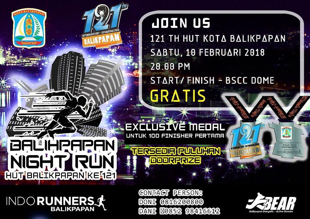 Balikpapan Night Run 2018 Lariku Info