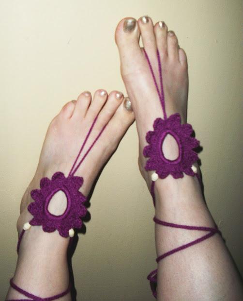 Farrah' Flower Feet -barefoot Sandals