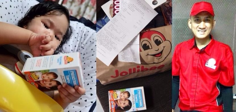 VIRAL: Jollibee rider brings medicine to sick customer