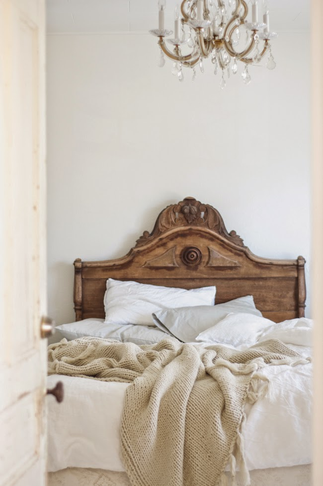 rustic brown bed, farmhouse bed, farmhouse bedroom furniture, stained wood bed