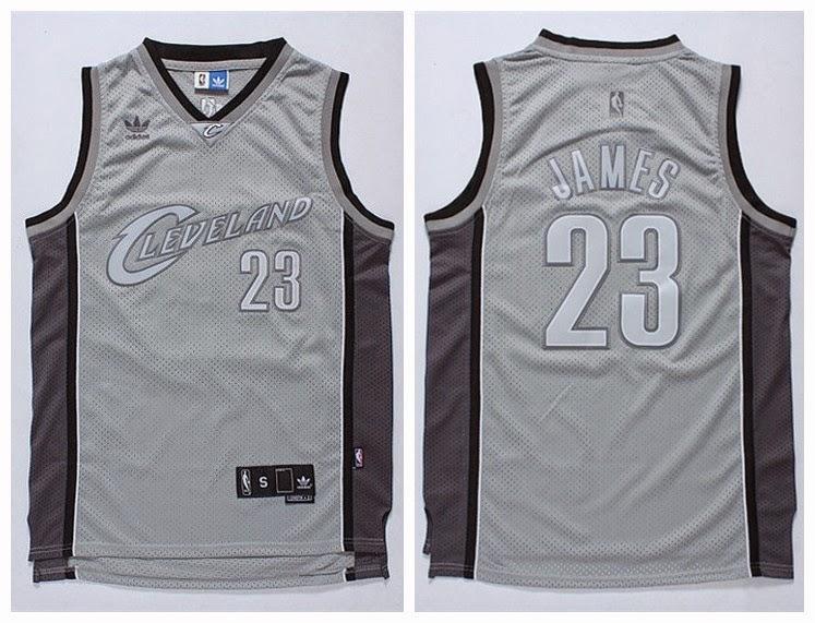 lowest price 91bbb 416c2 Cleveland Cavaliers 23 Lebron James retro jersey grey ...