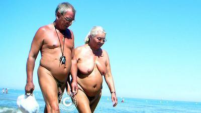 Old couple nude Couple