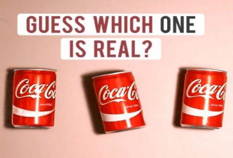 Βλέπεις 3 κουτάκια από Coca Cola σωστά; Λάθος! Δες τι συμβαίνει (VIDEO)