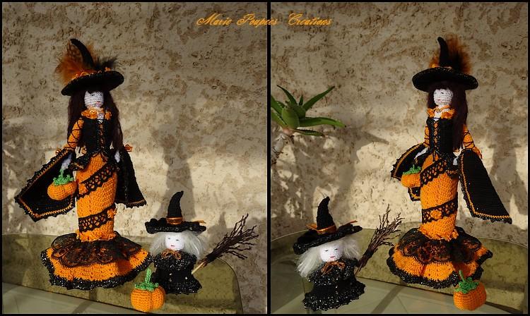 Poupée sorcière d'Halloween