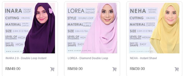 Borong Tudung Dan Shawl Labuh Di Uswah Islamic Clothing
