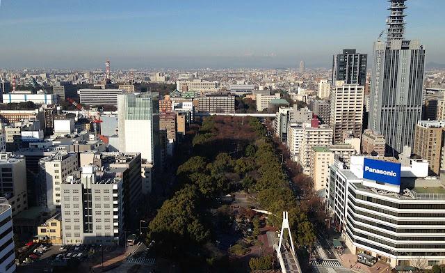 Cidade de Nagoia vista torre de TV