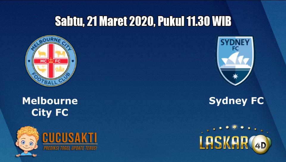 Prediksi Melbourne City VS Sydney FC  21 Maret 2020