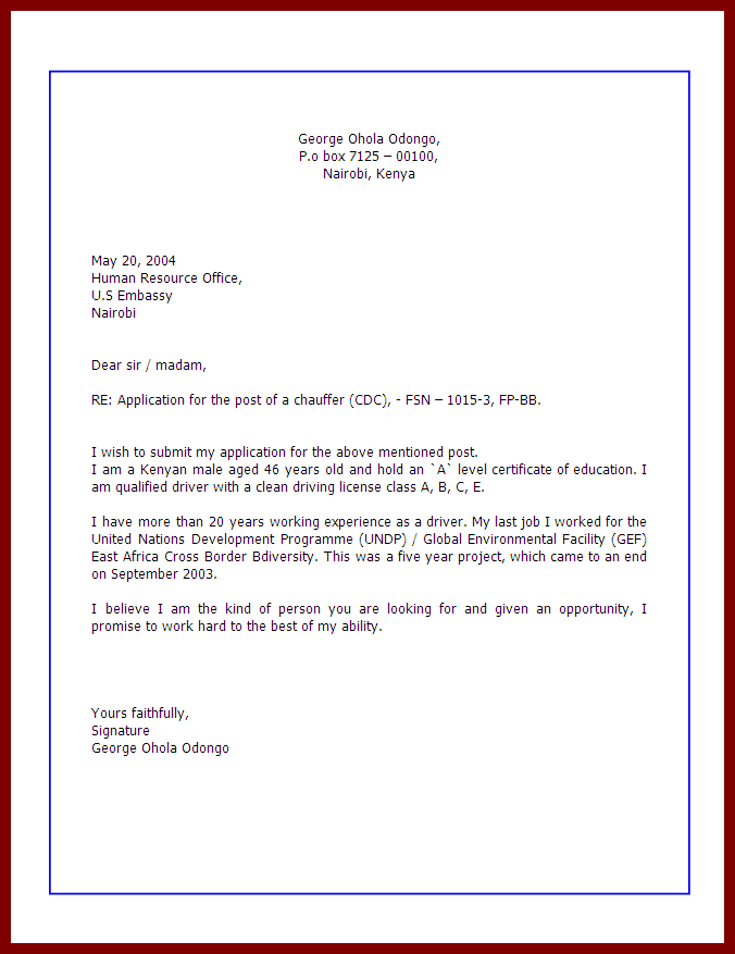 How to write a good application 30 day notice letter