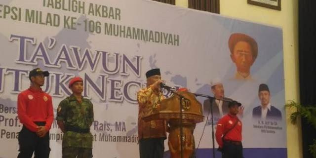 Amien Rais soal Pilpres 2019: Saya Jewer Kalau Muhammadiyah Tak Bersikap