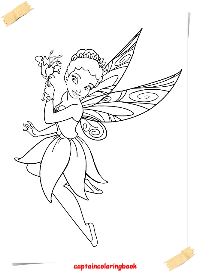 Tinker Bell Coloring Pages ebook - Coloring Page
