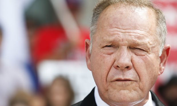 Roy Moore has long been a controversial figure in Alabama politics. Photograph: Brynn Anderson/AP