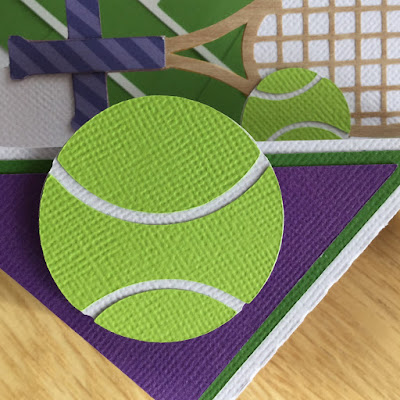 "Wimbledon and USA Open Tennis Cards made by Janet Packer (Crafting Quine) from the ""At The Ball Park Card' by Simply Crafty SVGs."