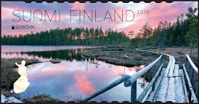 Erämaasilta postimerkki suomi europa 2018