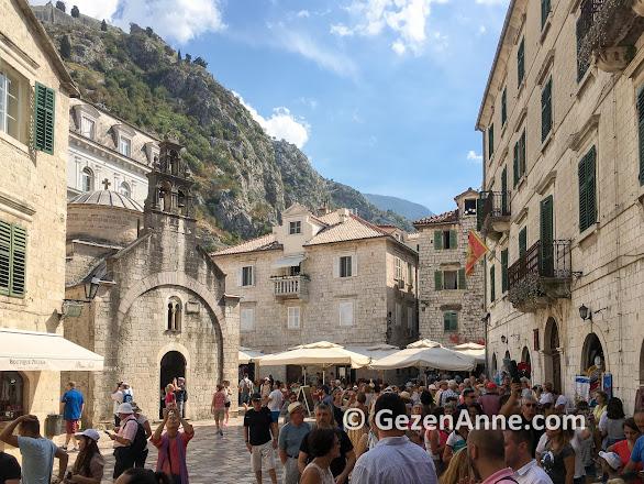 Kotor old town sokakları, Montenegro