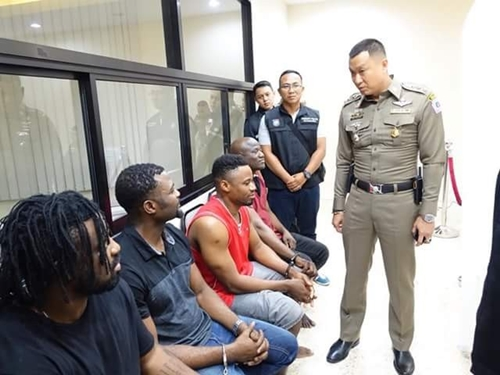 Faces Of Nigerians Arrested In Thailand For Massive Scam (Pics)