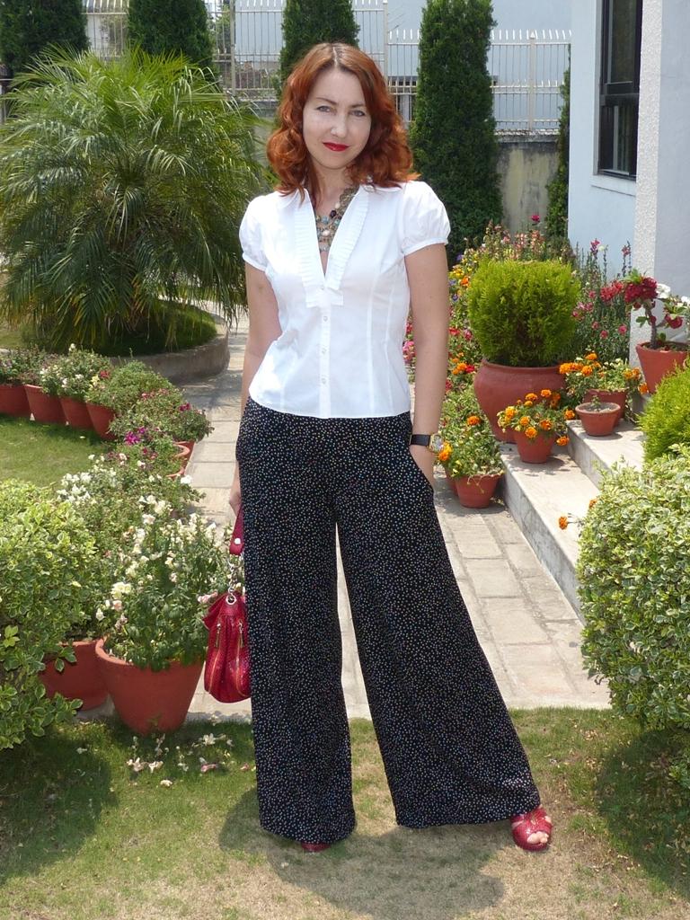 Local Fashion: Wide Legged Polka Dot Trousers